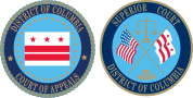 Seals of the DC Court of Appeals and DC Superior Court